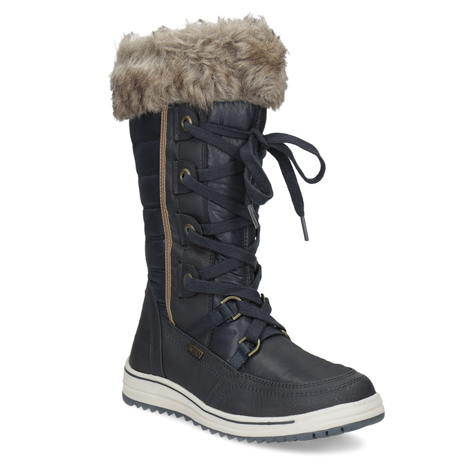 Ladies' snow boots with fur bata, blue , 599-9620 - 13
