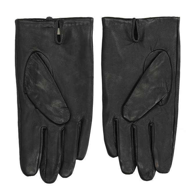 Black leather gloves, black , 904-6130 - 16