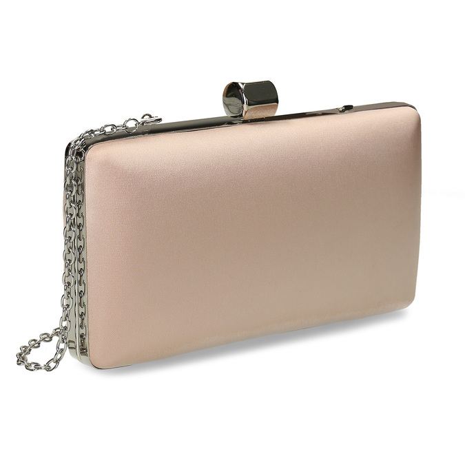 Cream clutch with chain bata, 969-8671 - 13