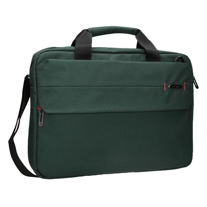 Textile laptop bag samsonite, green, 969-7681 - 13