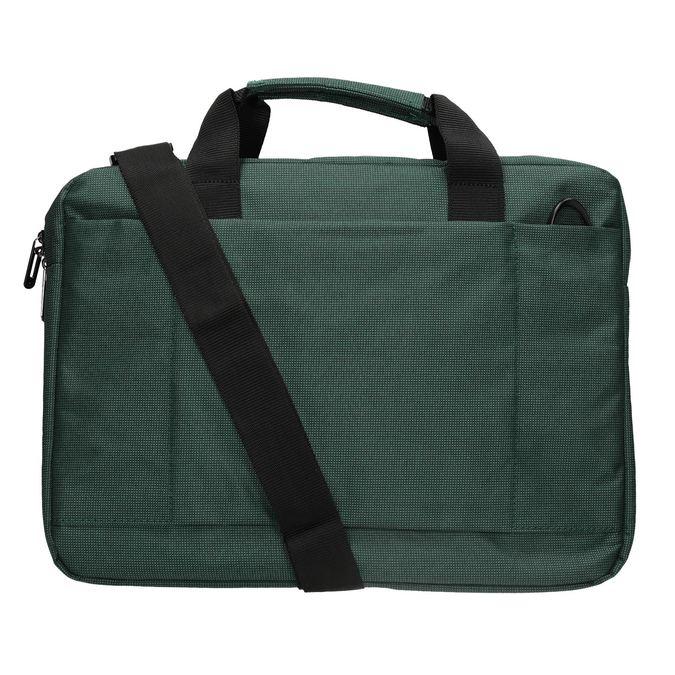 Textile laptop bag samsonite, green, 969-7681 - 16