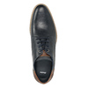 Men's leather Derby shoes bata, blue , 826-9924 - 15