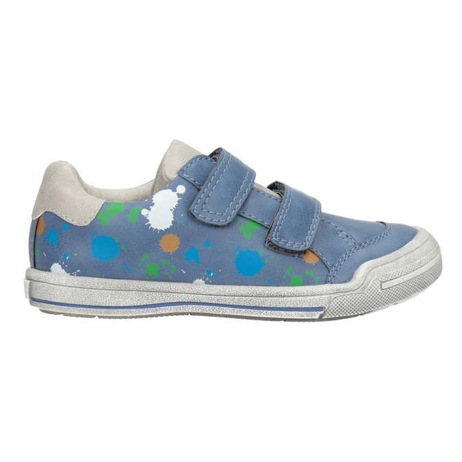 Blue sneakers with print mini-b, 211-9218 - 26