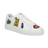 Ladies' white sneakers with patches north-star, white , 541-1602 - 13