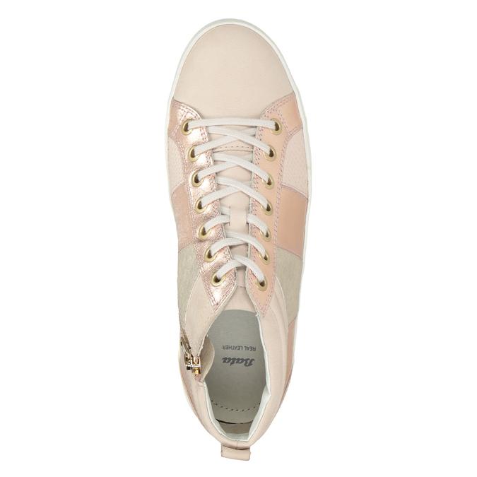 Ladies' high-top sneakers bata, pink , 546-5608 - 15