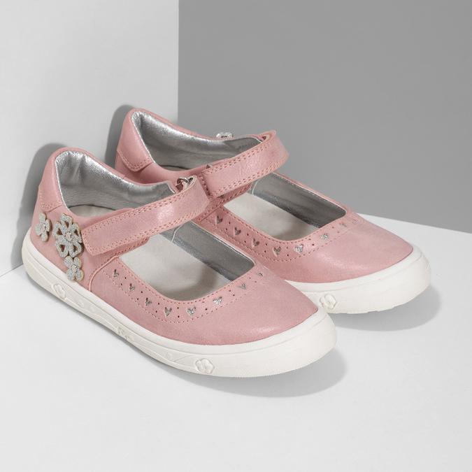 Girls' pink ballerinas mini-b, pink , 221-5216 - 26