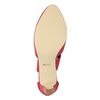 Pink leather pumps insolia, red , 624-5643 - 17