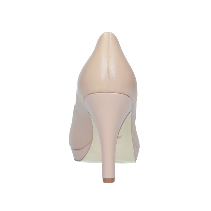 Pinkish cream-colored leather pumps insolia, beige , 724-2104 - 16