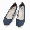 Leather pumps width H bata, blue , 623-9602 - 16