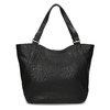 Black studded handbag, black , 961-6787 - 16