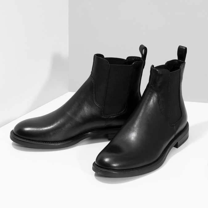 Black leather Chelsea Boots vagabond, black , 514-6007 - 16