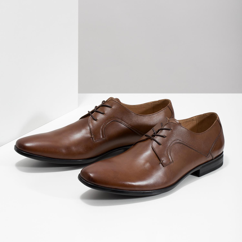 08a7352156 Bata Men s brown leather shoes - Dress